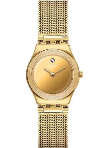 Swatch Ysg167m LUMINESCENT SAND Bayan Saati Altın